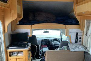 就寝スペースや荷物置きなど様々な使い方ができます。